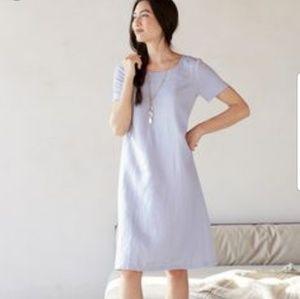 J.jill pure jill linen & tencel dress in hyacinth